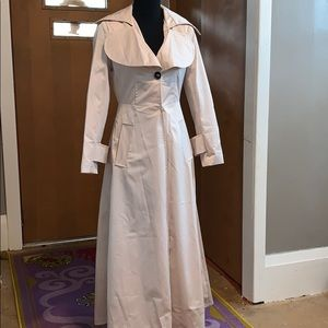 Tan full-length trench coat size large